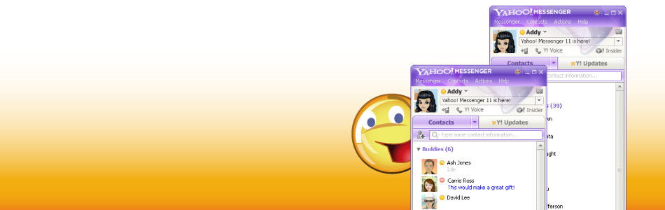 Yahoo Messenger for PC (version 11x and above)